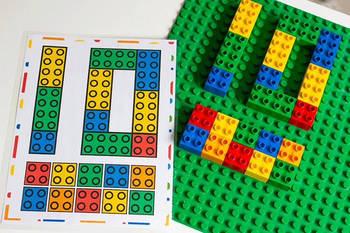 Схемы LEGO DUPLO с цифрами 1-10