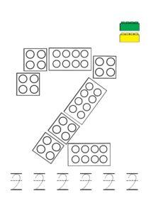 Лего-математика: задачи на счет до 10