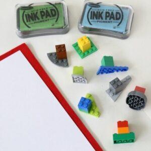 рисование штампами с лего