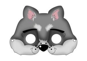 Маска волка для детей - распечатать шаблон