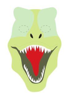 детская маска динозавра