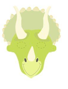шаблон маски динозавра для печати