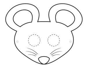 Детская маска Мышка - распечатать шаблон бесплатно