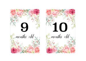 Карточки с розами для фотосессии малыша