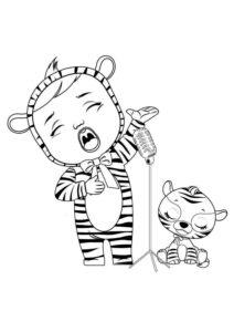 Раскраска Край Бебис Нала тигренок