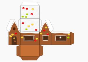 Распечатать шаблон Рождественский домик