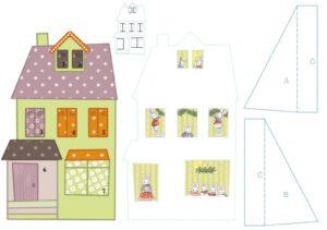 Рождественский домик из бумаги