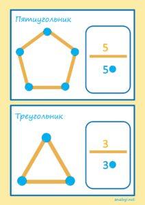 Объемные геометрические фигуры: шаблоны