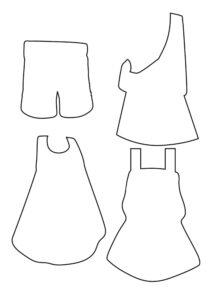 одежда для бумажной куклы для распечатывания