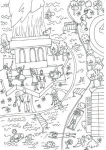 Распечатать большую раскраску Нью-Йорк