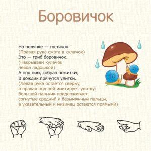 пальчиковые игры для детей - боровичок