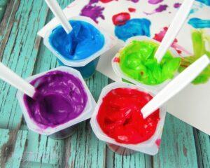 Йогуртовые пальчиковые краски своими руками
