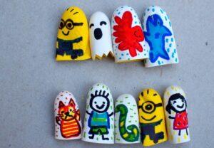 пальчиковые куклы для детей своими руками из резиновых перчаток