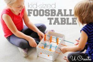 Чем занять ребенка дома: настольный футбол