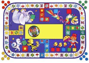 настольные игры - Пестрый кубик - распечатай и играй