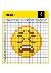 Пиксельные раскраски Смайлики