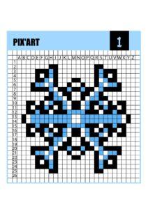 Скачать зимние пиксельные раскраски