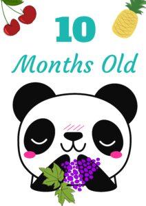 плакат для фотосессии малыша 10 месяцев