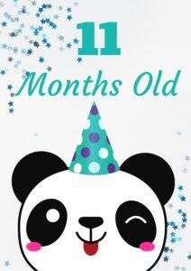 плакат для фотосессии малыша 11 месяцев