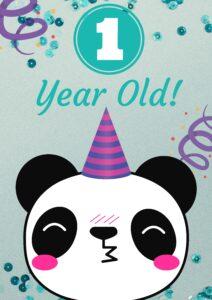 плакат для фотосессии малыша 1 год