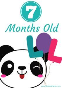 плакат для фотосессии малыша 7 месяцев