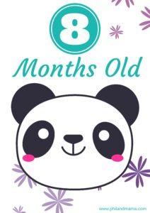 плакат для фотосессии малыша 8 месяцев
