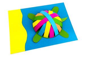Поделка Черепаха из бумажных полосок