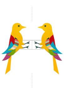 поделка птица своими руками из бумаги
