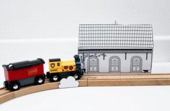 поделка железнодорожная станция из бумаги