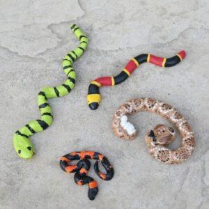 Поделка змея из соленого теста