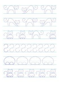 Прописи для дошкольников Кошка