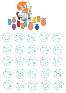 распечатать прописи обводилки для девочек