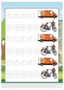 Распечатать прописи-обводилки для мальчиков дошкольного возраста про транспорт