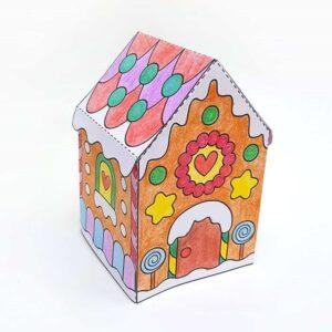 Пряничный домик - распечатать шаблон ниже