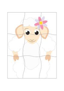 Распечатать пазлы А4 для малышей