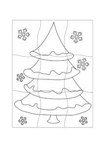 задания-пазлы для новогоднего адвента детям