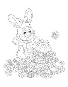 Распечатать раскраски Пасха для детей