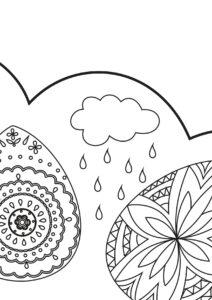Большая пасхальная раскраска Кулич
