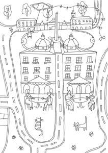 Распечатать раскраску Рим на 15 листах для склеивания