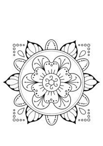 Раскраски для девочек Мандала распечатать