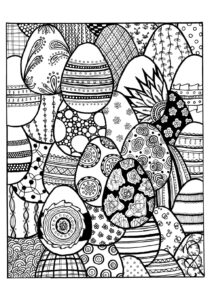 Пасхальные раскраски-мандалы