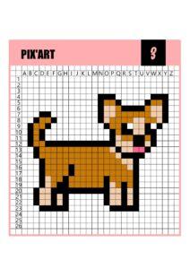 Пиксельные раскраски для детей