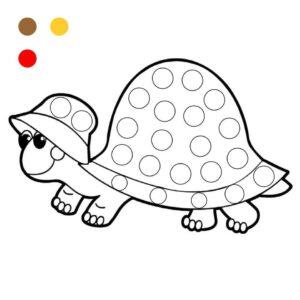 Распечатать раскраски по кружочкам для малышей