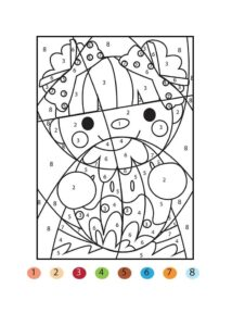 Сложные раскраски по номерам для детей распечатать бесплатно