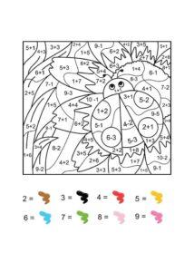 посчитай и раскрась - распечатать раскраски по номерам для детей с подсчетом