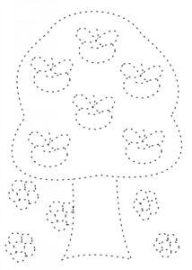 Распечатать раскраски-обводилки по точкам
