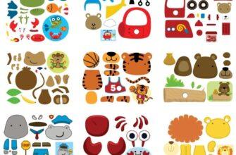 распечатать картинки для аппликации для детей