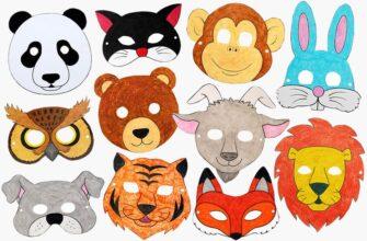 распечатать маски для детей шаблоны и картинки