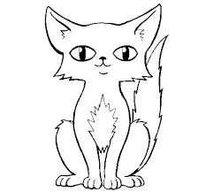 распечатать раскраску котенок
