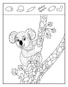 Распечатать простые раскраски-находилки для детей